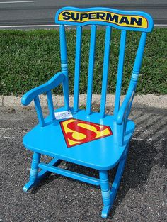 Super cool painted rocking chair
