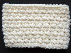Crochet  : Punto Bajo Diagonal en redondo