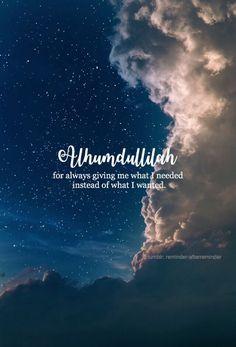 ALHAMDULLILAH! #Gratefulness #Faith #Islam