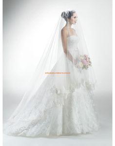 Maggie Sottero A-llinie Schöne Romantische Brautkleider aus Organza mit Applikation