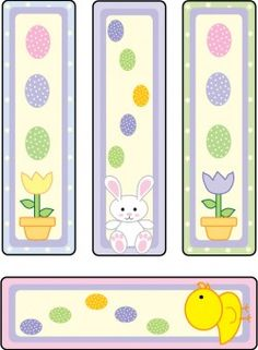 Bunny and Chicks Bookmarks