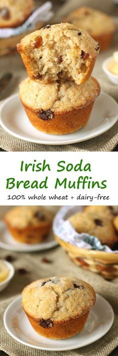 These 100% whole wheat Irish soda bread muffins are quite a bit ...