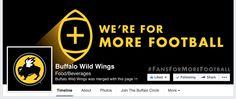 Buffalo Wild Wings Facebook Cover Photo. More here: http://tandsgo.com/24-facebook-cover-photos