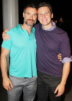 Murray Bartlett (Australian actor, Plays Dom on Looking) with Jonathan Groff