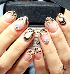 Bittersweet marble nail #nail #nailart #naildesign #marble