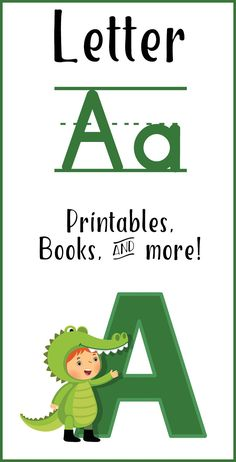 Letter A Printables, Books, and Activities #1plus1plus1 #letterA #alphabetactivities #homeschool Learning Letters, Learning Activities, Kids Learning, Early Learning, Quiet Time Boxes, Lesson Planner, Preschool At Home, Teaching Tips, Used Books