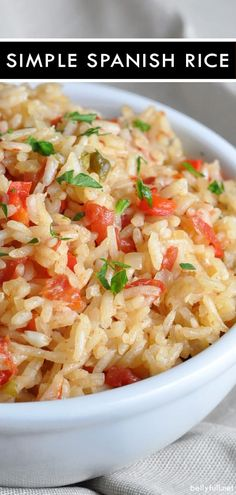 This Simple Spanish Rice is the perfect accompaniment to Mexican foods chicken steak in burritos or all by itself! This Simple Spanish Rice is the perfect accompaniment to Mexican foods chicken steak in burritos or all by itself! Burritos, Easy Cooking, Cooking Recipes, Healthy Recipes, Simple Rice Recipes, Mexican Dishes, Mexican Food Recipes, Spanish Food Recipes, Best Spanish Rice Recipe