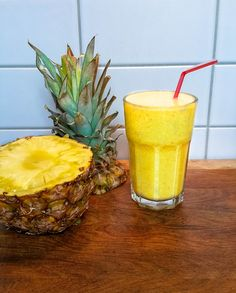 Piña Colada Smoothie Pina Colada, Juices, Smoothies, Pineapple, Blog, Drinks, Healthy, Fire, Smoothie