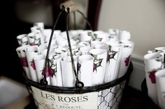 floral mass booklets wedding