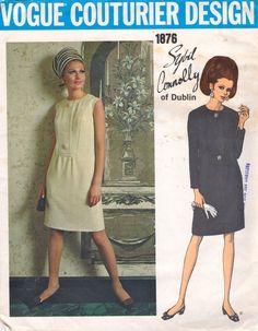 Vogue 1876 negli anni   60 Sybil Connolly non trova abito Slim modello  Couturier Womens Vintage 8f51bfd0c5d