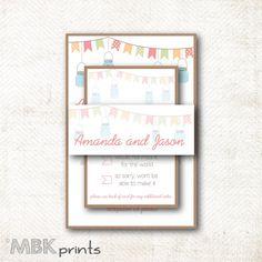 Wedding Invitation Card Set WS2 von MBKprints auf Etsy