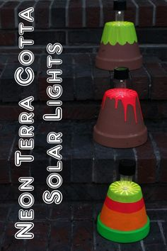Neon Terra Cotta Solar Light -- a fun way to add solar light to the outside of your home.