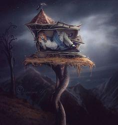 Alice The White Rabbit's House - Nina Y. (nina Y. not) Artist My Fantasy World, Fantasy Art, Dark Fantasy, Wonderland Party, Alice In Wonderland, Alice White, White Rabbits, Fairytale Art, Adventures In Wonderland