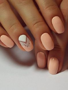 Nude-y Negative Space Nail Art. This nude glossy negative space nail art should definitely be on your list of next.