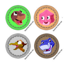 Land Before Time Cup Cake Toppers