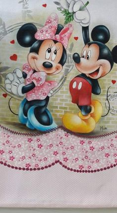 Minnie Mouse, Disney Characters, Fictional Characters, Hobbies, Art, Painting On Fabric, Silk Ribbon Embroidery, Doll, Xmas