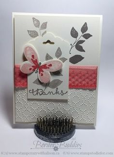 Stampin' Up! stamp set watercolor wings - love the dotted lace trim in all the new in-colors.  www.stampstodiefor.com