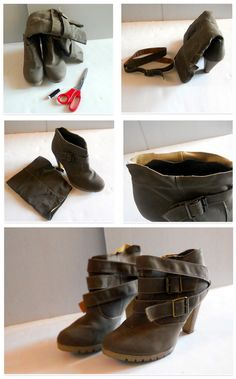 Here s how to create awesome ankle boots from boring boots Rinnovare I  Vestiti 11f3fa91ac6