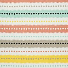 Tyg Stripe dot, white/multi