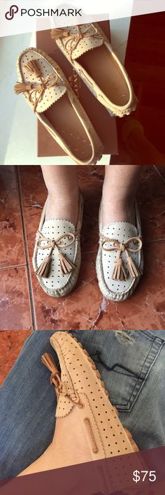 Coach car shoe moccasins Cute and very comfortable moccasins with teasels worn couple of times in the original box Coach Shoes Moccasins