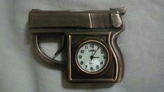 Gun Clock Gun Decor, Love Gun, Bullets, Guns, Decorating Ideas, Clock, Outdoors, Crafts, Accessories