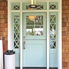 I always love a Dutch door, especially one painted in such a dreamy color!  #mspshowcasehome