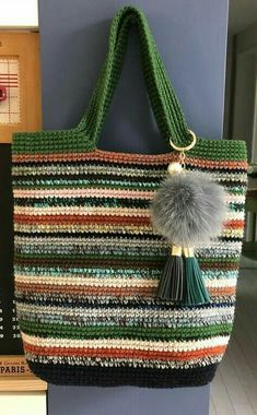 Free Crochet Bag Patterns and Hand Bags 2019 – Page 5 of 39 – hairstylesofwomens. com Free Crochet Bag Patterns and Hand Bags 2019 – Page 5 of 39 – hairstylesofwomens. Free Crochet Bag, Crochet Market Bag, Crochet Tote, Crochet Handbags, Crochet Purses, Knit Crochet, Bag Pattern Free, Knitted Bags, Bag Making