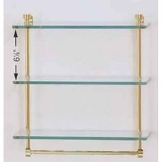 16 Triple Glass Shelf w/TB. Finish: Venetian Bronze by Allied. $88.40. Finish: Venetian Bronze. Triple glass shelves, with towel bar.  Solid brass construction 3/8 thick tempered glass with tempered edge 5 wide edge.   Finial styles are designed to match Allied Brass?s many collections.  Variety of finishes available.Some assembly may be required. Please see product details.