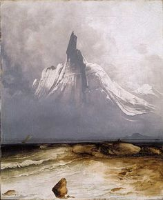 Peder Balke, Mount Stetind in fog, 1864. © The National Museum of Art, Oslo. Photo Jacques Lathion. Via Apollo magazine