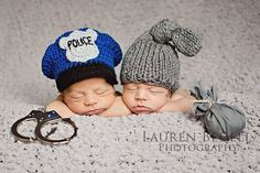 Halloween costume baby cop hat newborn police hat by ktandthesquid, $26.00    Love the police one...Mac might need to be a ky state trooper for Halloween