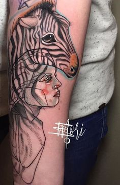 Mo Mori ink zebra tattoo