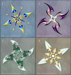 Shurikens (set 2) - Sale! by Rittik-Designs
