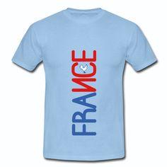 T-shirt Bleu Ciel France bleu blanc rouge France Coq