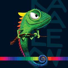 CAMALEON ILLUSTRATION on Behance Kawaii Disney, Amazing Art, Creative Design, Behance, Chameleons, Vector Illustrations, Zen, Studios, Character