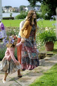 Princess Isabella (little girl) & Princess Mary (mom) of Denmark