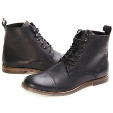 Chaussures homme montantes en cuir