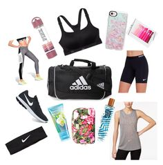 """What's in my gym bag"" by meghan-behrens on Polyvore featuring adidas, Casetify, Victoria's Secret, NIKE and Dolce&Gabbana"