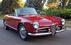 This 1962 Alfa Romeo Giulietta Spider Normale is a clean driver currently running a correct-type 1300cc engine from a 1962 Giulietta Spider and a 5-speed from a later Giulia. Since taking ownership, the seller performed a mechanical refresh and all receipts from the seller's work are included a