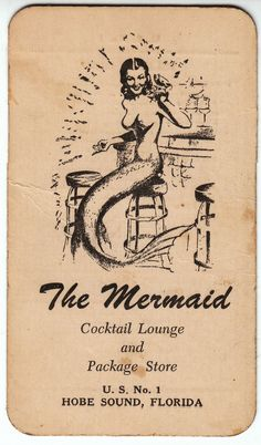 Sexy Mermaid Art | Hot Mermaid Cocktails Vintage Sleaze from Florida