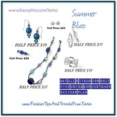 """""""Summer Blues"""" see the benefits of being a customer with LIA SOPHIA visit me at www.liasophia.com/tania and be sure to LIKE www.facebook.com/FashionTipsAndTrendsFromTania by taniamacleod on Polyvore"""