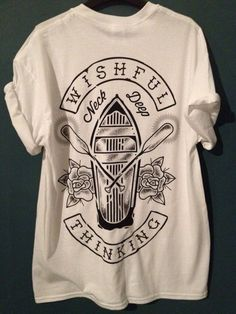 T-shirt: wishful thinking neck deep merch shirt top white black black and white band bands