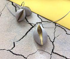 Original concrete jewelry  set Desire