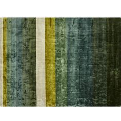 Step in line.  Soft bars of green wash down to ivory in this incredibly plush rug. Woven from rayon made from natural wood fibers, rug features colorful depth, sheen and the rich, luxurious feeling of a much pricier rug. Lower pile makes it ideal underneath dining tables or rooms with high traffic. CB2 exclusive.How will it look in your room? 12x12 rug samples are available in stores for a fee refundable upon return of the sample.  -Handloomed -Pile: 100% lyocell -Back: 100% cotton -Each…