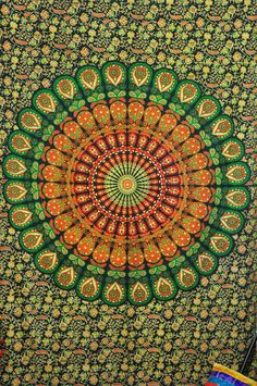Hippie Tapestries Tapestry Wall Hanging Mandala by BeingGypsy