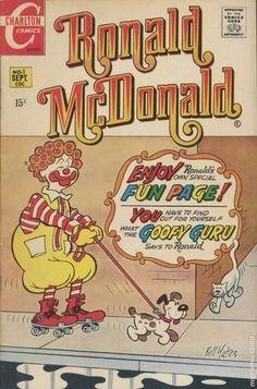 Ronald McDonald First comjd apperance Vintage Labels, Vintage Ads, Vintage Posters, Vintage Food, Vintage Signs, Old Advertisements, Retro Advertising, Vintage Comic Books, Vintage Comics