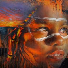One of the pieces from adnate's  show 'Beyond the Lands' at the Metro Gallery.