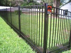 Because aluminum fences are powder coated, they'll never rust, chip or fade, making them a popular choice for pool fencing and properties on the coast. They look great in any sized yard, and provide security and containment without losing out on a beautiful view. Types Of Fences, Aluminum Fence, Pool Fence, Mossy Oak, Fence Design, Fencing, Yard, Puppies, Outdoor Decor