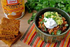 Crock Pot Pumpkin Chili - Could you STUFF any more fall into this bowl! www.kissmybroccoliblog.com
