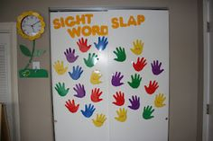 "Write sight words on the hands and give them a ""high five"" throughout the day."
