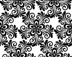 Black and white floral seamless pattern. — Stock Vector ...